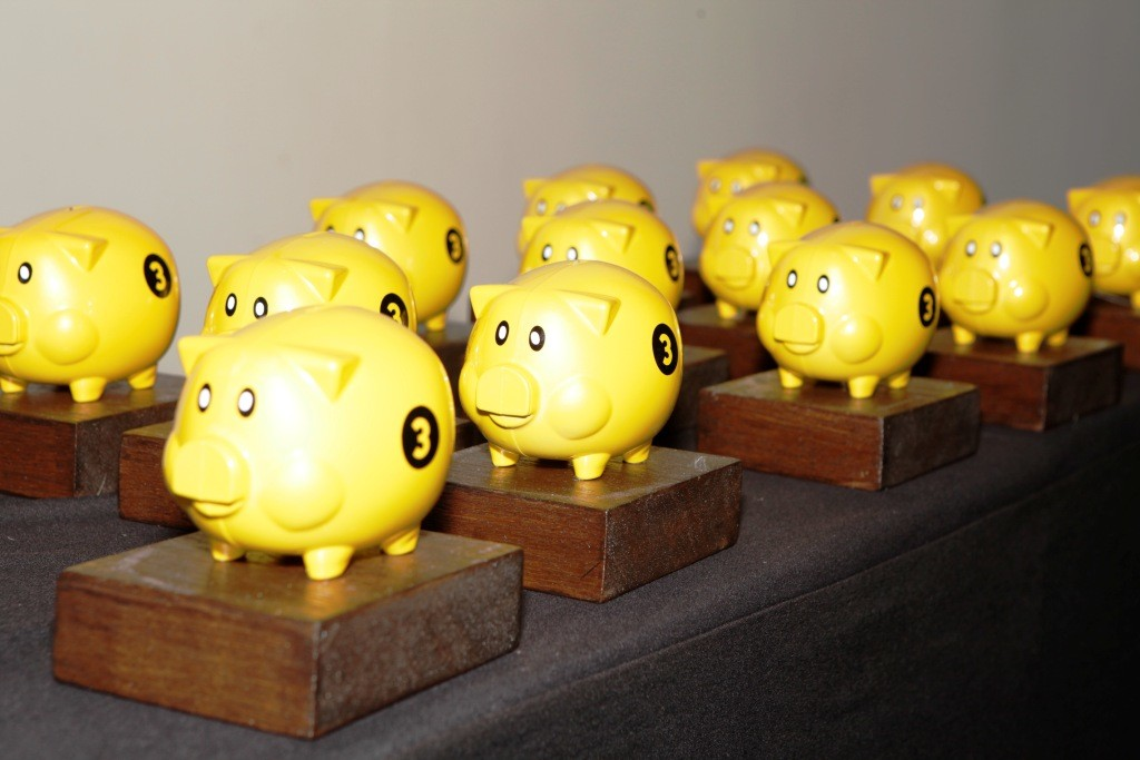 Row of Piggys
