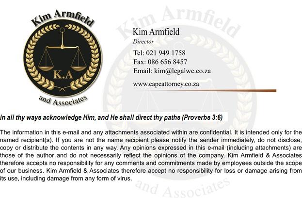 Kim Armfield logo web